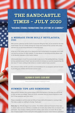 The Sandcastle Times - July 2020