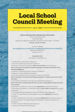 Local School Council Meeting