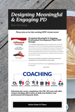 Designing Meaningful & Engaging PD