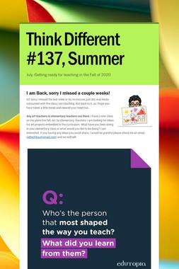 Think Different #137, Summer