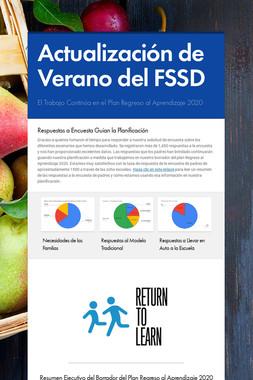 Actualización de Verano del FSSD