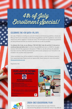 4th of July Enrollment Special!