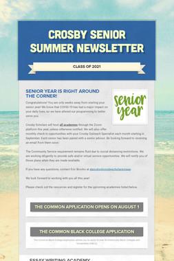 Crosby Senior Summer Newsletter