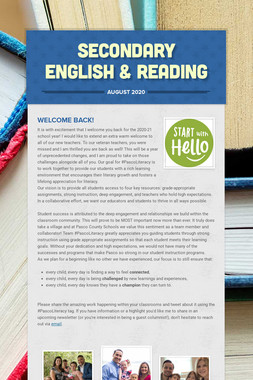 Secondary English and Reading News