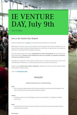 IE VENTURE DAY, July 9th