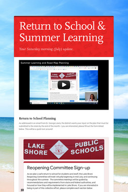 Return to School & Summer Learning