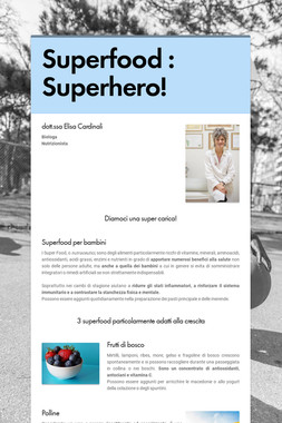Superfood  : Superhero!