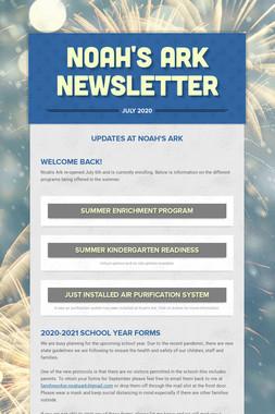 Noah's Ark Newsletter