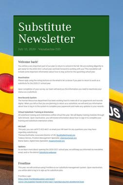 Substitute Newsletter