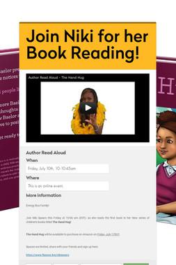 Join Niki for her Book Reading!