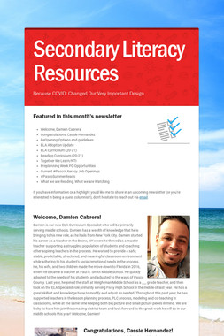 Secondary Literacy Resources