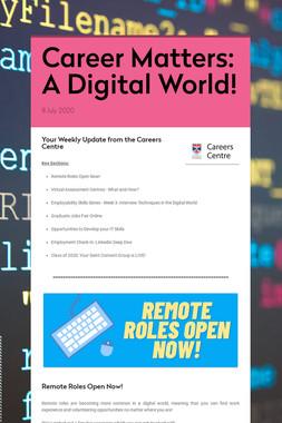 Career Matters: A Digital World!