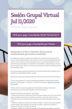 Sesión Grupal Virtual Jul 11/2020