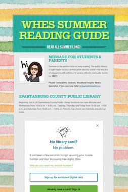 WHES Summer Reading Guide