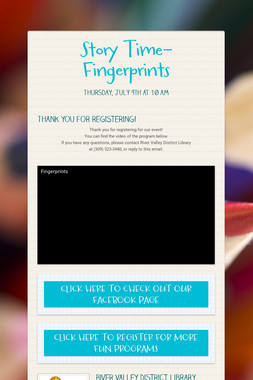 Story Time- Fingerprints