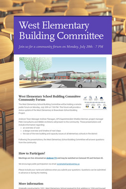 West Elementary Building Committee