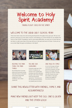 Welcome to Holy Spirit Academy!