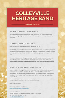 Colleyville Heritage Band