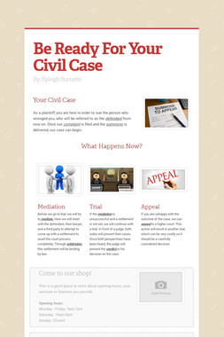 Be Ready For Your Civil Case