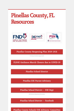 Pinellas County, FL Resources