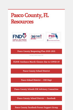 Pasco County, FL Resources