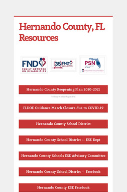 Hernando County, FL Resources