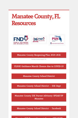 Manatee County, FL Resources