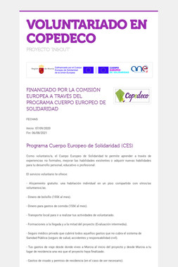 VOLUNTARIADO EN COPEDECO