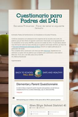 Cuestionario para Padres del D41