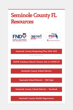 Seminole County FL Resources