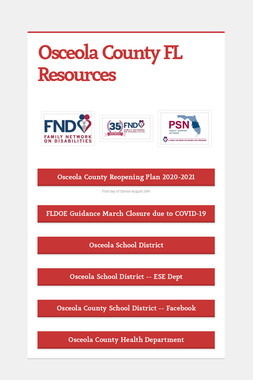 Osceola County FL Resources