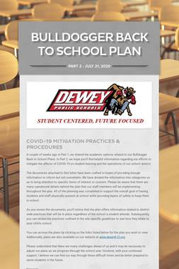 Bulldogger Back To School Plan