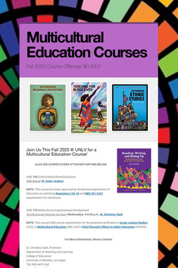 Multicultural Education Courses