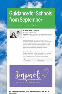 Guidance for schools in September