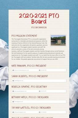 2020-2021 PTO Board