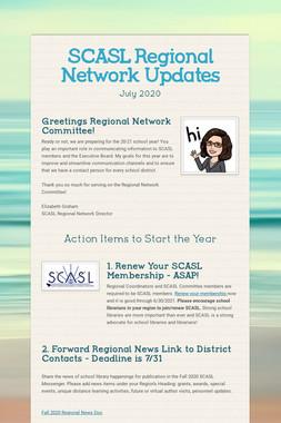 SCASL Regional Network Updates
