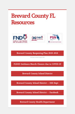 Brevard County FL Resources