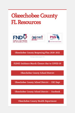 Okeechobee County FL Resources