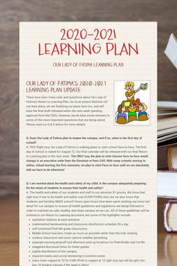 2020-2021 LEARNING PLAN