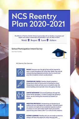 NCS Reentry Plan 2020-2021