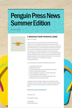 Penguin Press News Summer Edition