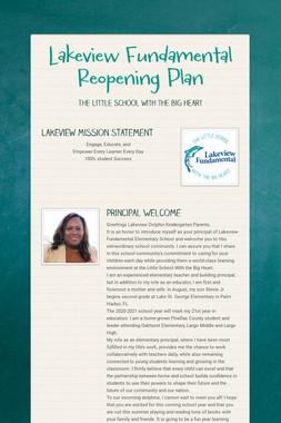 Lakeview Fundamental Reopening Plan