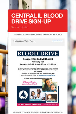 CENTRAL IL BLOOD DRIVE SIGN-UP