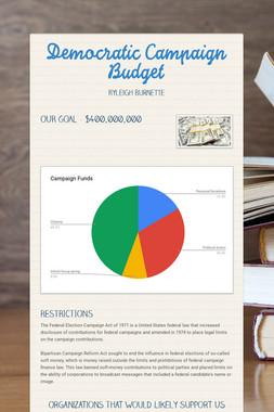 Democratic  Campaign Budget