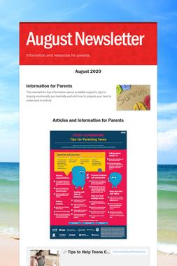 August Newsletter