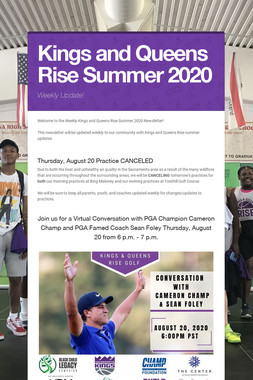 Kings and Queens Rise Summer 2020
