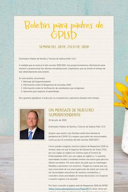 Boletín para padres de GPISD