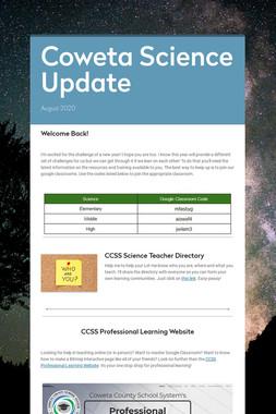 Coweta Science Update