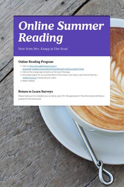 Online Summer Reading