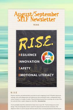 August/September SELF Newsletter